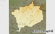 Physical 3D Map of Haute-Kotto, darken
