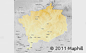 Physical 3D Map of Haute-Kotto, desaturated