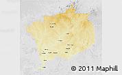 Physical 3D Map of Haute-Kotto, lighten, desaturated