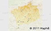 Physical 3D Map of Haute-Kotto, lighten