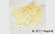 Physical 3D Map of Haute-Kotto, lighten, semi-desaturated