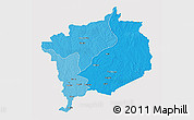 Political Shades 3D Map of Haute-Kotto, cropped outside
