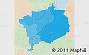 Political Shades 3D Map of Haute-Kotto, lighten