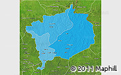 Political Shades 3D Map of Haute-Kotto, satellite outside