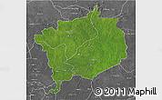 Satellite 3D Map of Haute-Kotto, desaturated