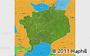 Satellite 3D Map of Haute-Kotto, political outside