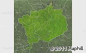 Satellite 3D Map of Haute-Kotto, semi-desaturated