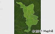 Satellite 3D Map of Bria, darken