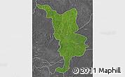 Satellite 3D Map of Bria, desaturated