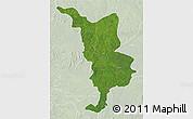 Satellite 3D Map of Bria, lighten