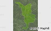 Satellite 3D Map of Bria, semi-desaturated