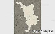 Shaded Relief 3D Map of Bria, darken