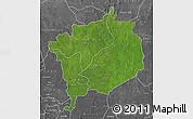 Satellite Map of Haute-Kotto, desaturated