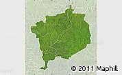 Satellite Map of Haute-Kotto, lighten