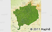 Satellite Map of Haute-Kotto, physical outside