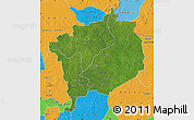 Satellite Map of Haute-Kotto, political outside