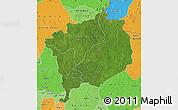 Satellite Map of Haute-Kotto, political shades outside