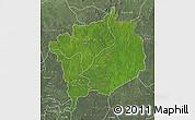 Satellite Map of Haute-Kotto, semi-desaturated