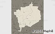 Shaded Relief Map of Haute-Kotto, darken