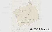 Shaded Relief Map of Haute-Kotto, lighten