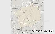 Shaded Relief Map of Haute-Kotto, semi-desaturated