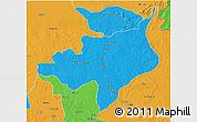 Political 3D Map of Ouadda