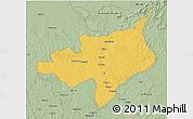 Savanna Style 3D Map of Ouadda