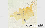 Physical Map of Ouadda, lighten