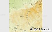 Physical Map of Ouadda