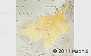 Physical Map of Ouadda, semi-desaturated