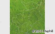 Satellite Map of Ouadda