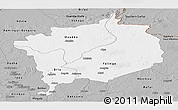 Gray Panoramic Map of Haute-Kotto