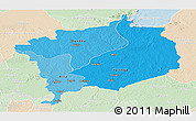 Political Shades Panoramic Map of Haute-Kotto, lighten