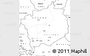 Blank Simple Map of Haute-Kotto
