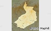 Physical 3D Map of Yalinga, darken