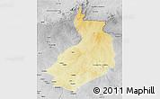 Physical 3D Map of Yalinga, desaturated