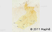 Physical 3D Map of Yalinga, lighten
