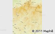 Physical 3D Map of Yalinga
