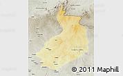 Physical 3D Map of Yalinga, semi-desaturated
