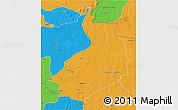 Political 3D Map of Yalinga
