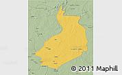 Savanna Style 3D Map of Yalinga