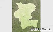 Physical Map of Kemo, darken
