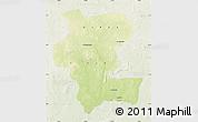 Physical Map of Kemo, lighten