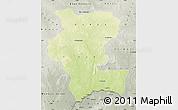 Physical Map of Kemo, semi-desaturated