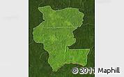 Satellite Map of Kemo, darken