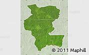 Satellite Map of Kemo, lighten