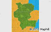 Satellite Map of Kemo, political outside