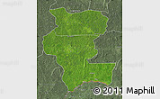 Satellite Map of Kemo, semi-desaturated