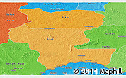 Political Shades Panoramic Map of Kemo