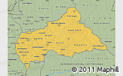 Savanna Style Map of Central African Republic